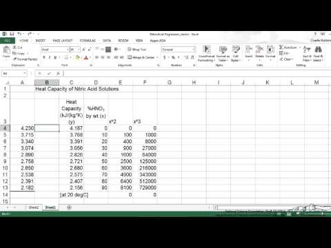 Creating a Scatter Plot using Regression Analysis