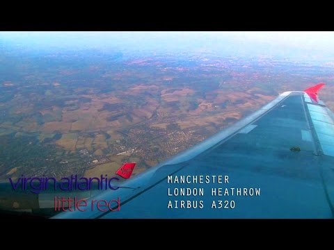 Virgin Atlantic VS3046 Full Flight - Inaugural Manchester to London Heathrow (Airbus A320) With ATC