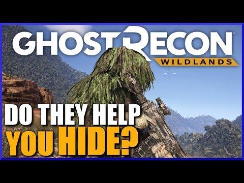 GHILLIE SUIT TEST pt 2 - Ghost Recon Wildlands Ghillie Suit Hiding