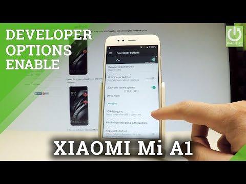 XIAOMI Mi A1 Developer Options / USB Debugging / OEM Unlock