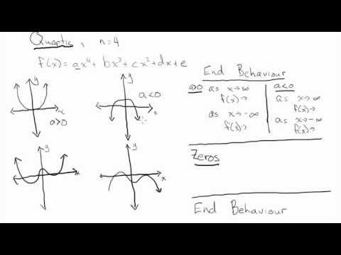 Characteristics of Polynomials (Cubic and Quartic)