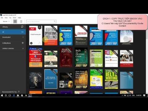Copy ebook vào Kindle for PC đơn giản