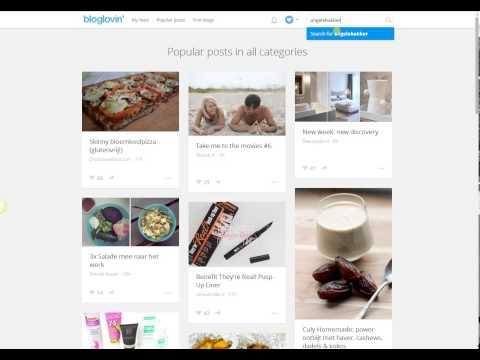 Uitleg bloglovin, hoe volg je jouw favoriete blogs