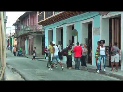 Cuban life in the streets of Santiago de Cuba