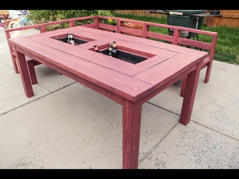 Patio Table with Built in Ice Boxes (How to Build)