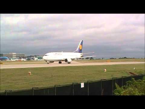 Lufthansa 737 departing Manchester