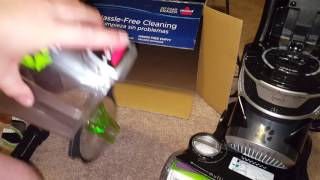 Bissell pet hair eraser unboxing and assembly