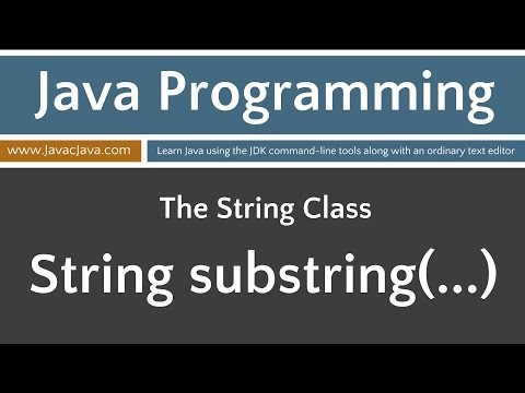 Learn Java Programming - String Class Tutorials substring(...)