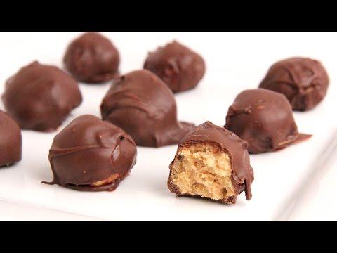 Chocolate Peanut Butter Balls Recipe - Laura Vitale - Laura in the Kitchen Episode 905