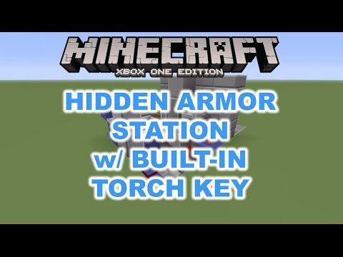 Hidden Armor Station w/ Built-In Secret Torch Key [Tutorial] (Minecraft Xbox/PlayStation)