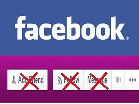 How to Hide Add Friend,Message and Follow Button From Facebook Profile