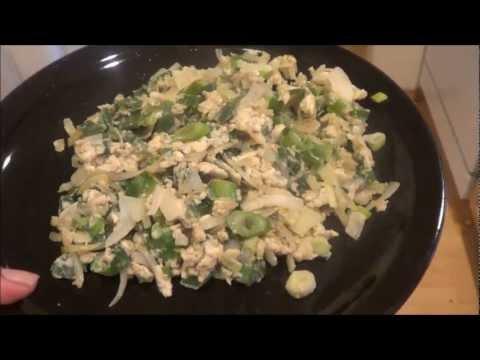 Scrambled Green Veggie Eggs