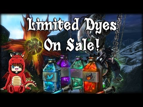 Guild Wars 2 - Limited Dyes Now On Sale! (Flame/Frost/Toxic Dyes)
