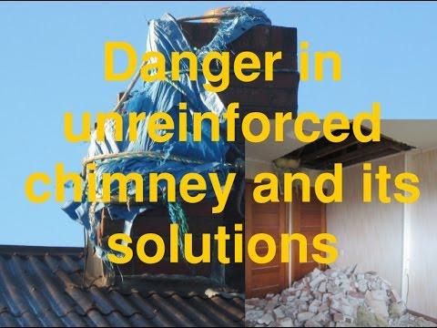Unreinforced chimney