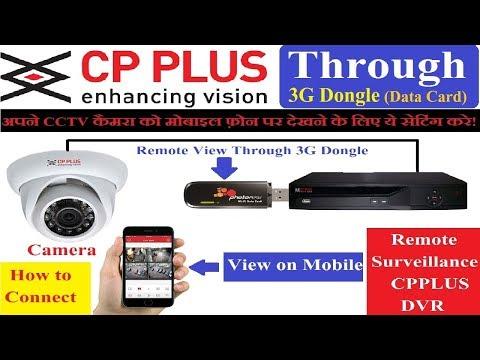 CP PLUS DVR Remote View Online through 3G Dongle Like Tata Photon