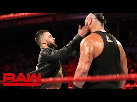 Finn Bálor slaps Braun Strowman: Raw, May 28, 2018