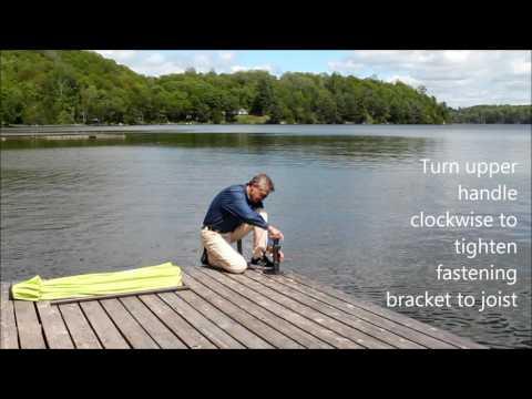 J Hook Umbrella Stand for Decks & Docks - Installation & Relocation
