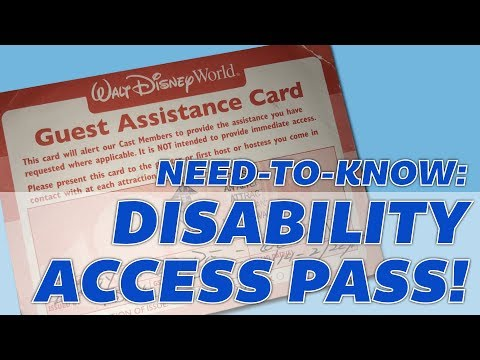 How does the Disney Disability Access Pass work?