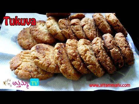 North indian sweet Biscuits-tukuva In Telugu (టుకువా తయారీ ) .:: by Attamma TV ::.