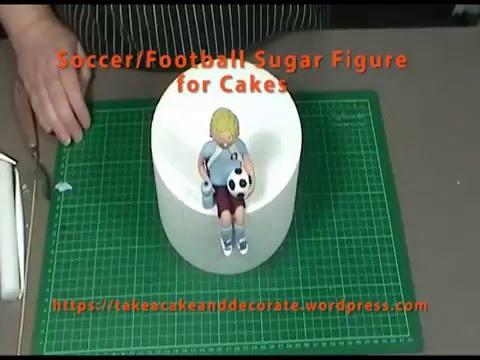 Soccer or Football Sugar Cake Topper