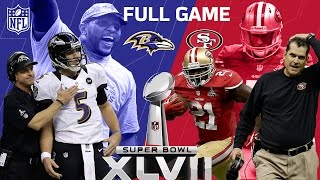 "Super Bowl XLVII: ""The Harbaugh Bowl"" aka ""The Blackout"" | Ravens vs. 49ers | NFL Full Game"