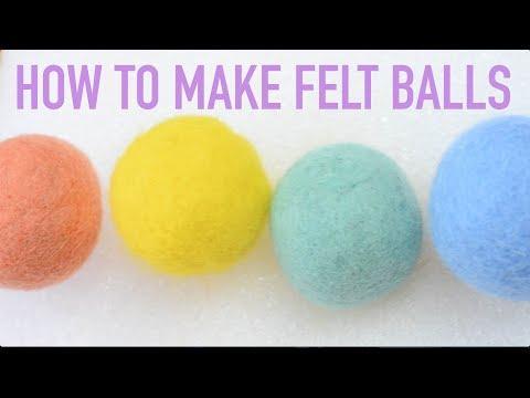Kawaii DIY: How to Make Felt Balls DIY using Wet Felting (Wet Felting 101 - Easy Tutorial)