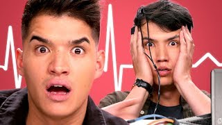 Download Alex Wassabi takes a Lie Detector Test with LazyRon!! | Detected Video