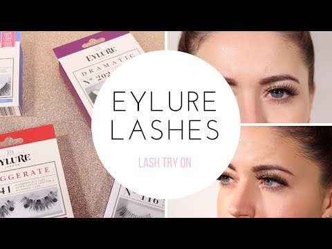 BEST SELLING EYLURE LASHES TRY ON