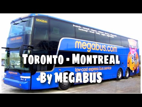 Travelling from Toronto to Montreal by Megabus