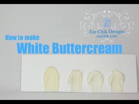 How to make buttercream white