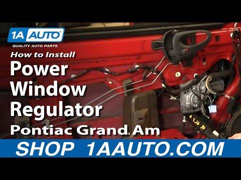 How To Install Replace Power Window Regulator Pontiac Grand Am Olds Alero 99-06 - 1AAuto.com