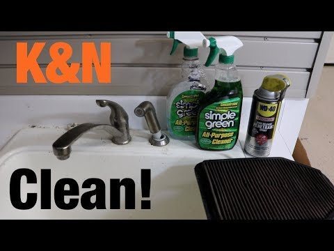 How to Clean & Recharge K&N Air Filter w/ Household Products