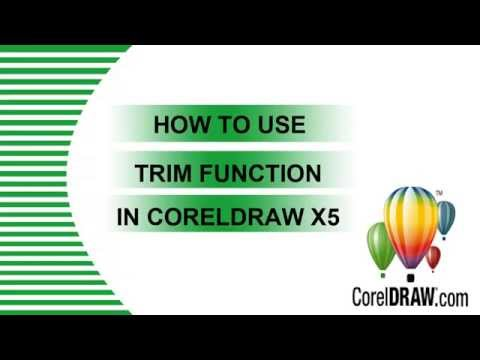 HOW TO USE TRIM FUNCTION IN CORELDRAW X5?