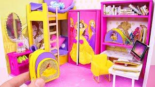 7 DIY Miniature Dollhouses ~ Cinderella, Rapunzel, Aurora, and more pipecleanercrafts b
