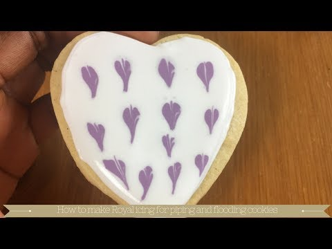 How to make Royal icing for piping and flooding cookies