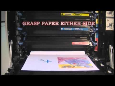 Clearing a Transfer Belt Paper Jam on the HP 2600n Color LaserJet Printer