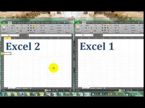 how to open excel in two different windows