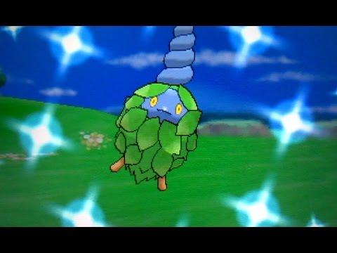 Shiny Burmy after ~1200 SRs in the Berry Fields! (Pokemon X)