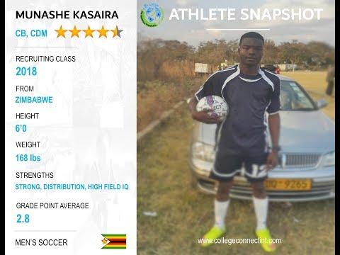 Munashe Kasaira, CB/CDM - Fall 2018 Soccer Recruit
