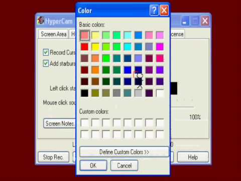 How to change the starburst click color.