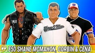 WWE Elite 50 SHANE MCMAHON, BARON CORBIN & JOHN CENA Mattel Toy Unboxing &  Review!!