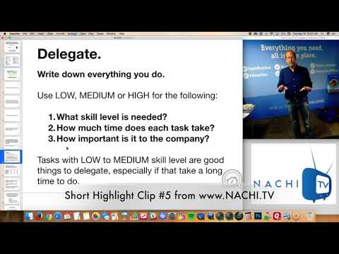 How to Delegate is Discussed in NACHI.TV Clip #5 for Home Inspectors