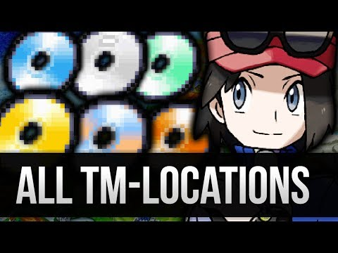 How & Where to catch/get - All TM Locations in Pokemon X and Y [Full TM Location Guide]