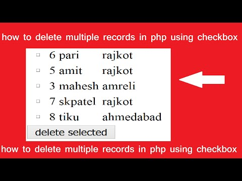 how to delete multiple records in php using checkbox