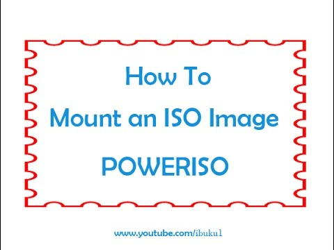 Poweriso : How to Mount an iso Image  [ very Easy ]