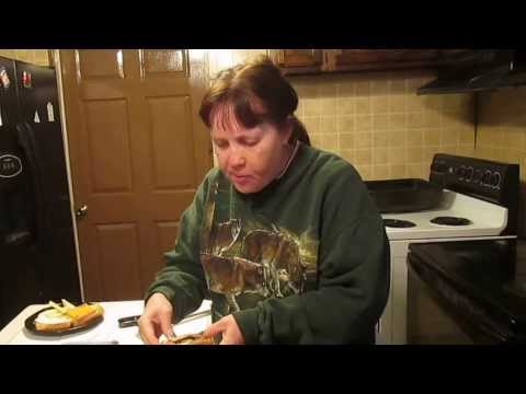Ham, Egg, Cheese sandwich made in toaster oven New