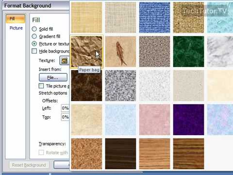 Create a Texture Background in PowerPoint 2007