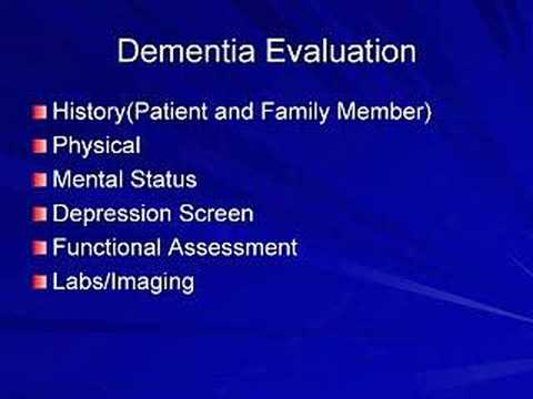 Dementia: Diagnosis and Assessment