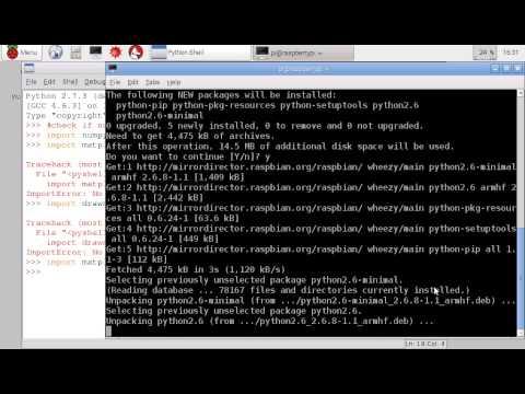 Install numpy, matplotlib and drawnow for Python 2