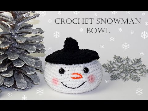 How To Crochet for Beginners   Snowman Bowl